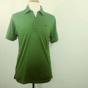 NWOT Travis Mathew Polo Green Pima Cotton M